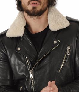 Perfecto Rocker Cuir Noir Serge Pariente