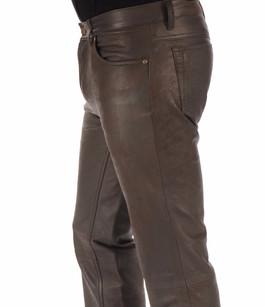 Pantalon agneau nubuck chocolat Maddox