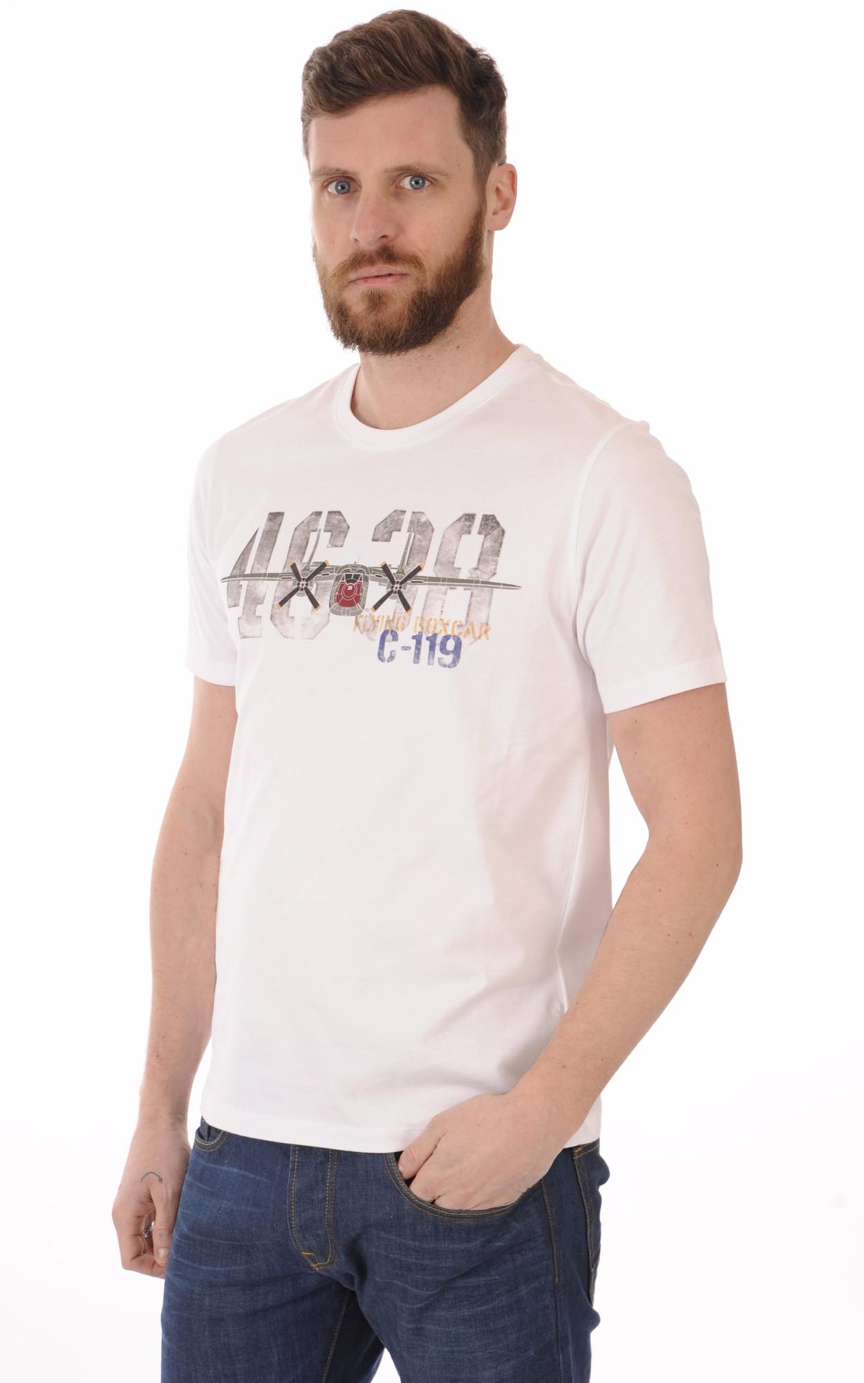 T-shirt 4638 Blanc Aeronautica Militare