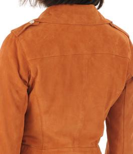 Blouson chèvre velours orange Oakwood
