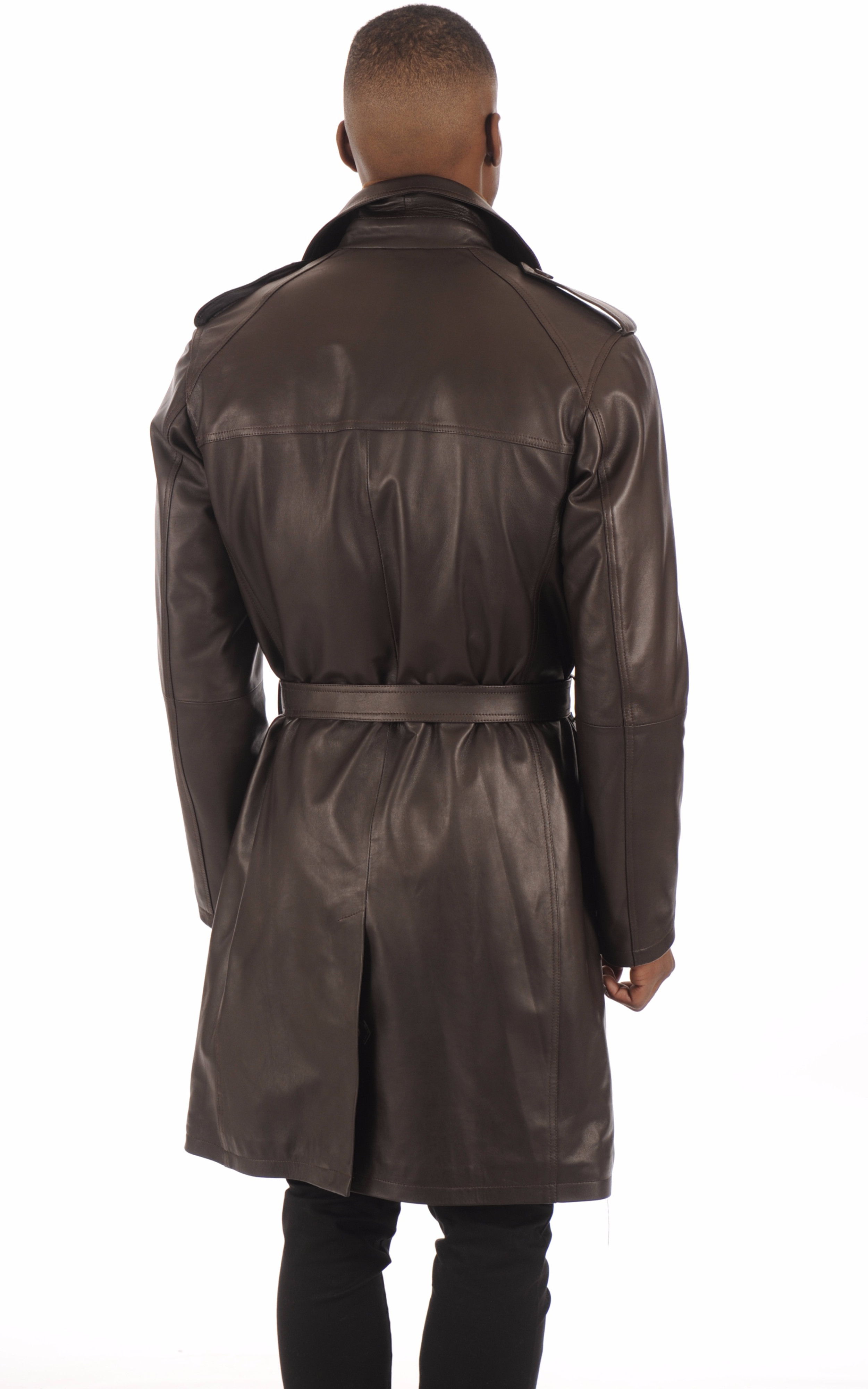 Trench Cuir Marron Homme La Canadienne