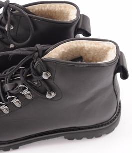 Boots Cuir Fourrées Mouton Noir Blackstone