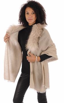 Etole laine et cachemire fourrure