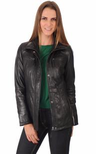 Les vestes cuir pour femme