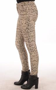 Pantalon Stretch Imprimé Python Femme