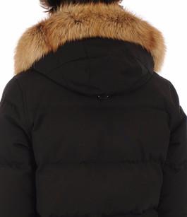 Doudoune à capuche renard noire Moose Knuckles