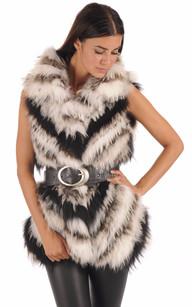 Gilet en Raccoon Femme