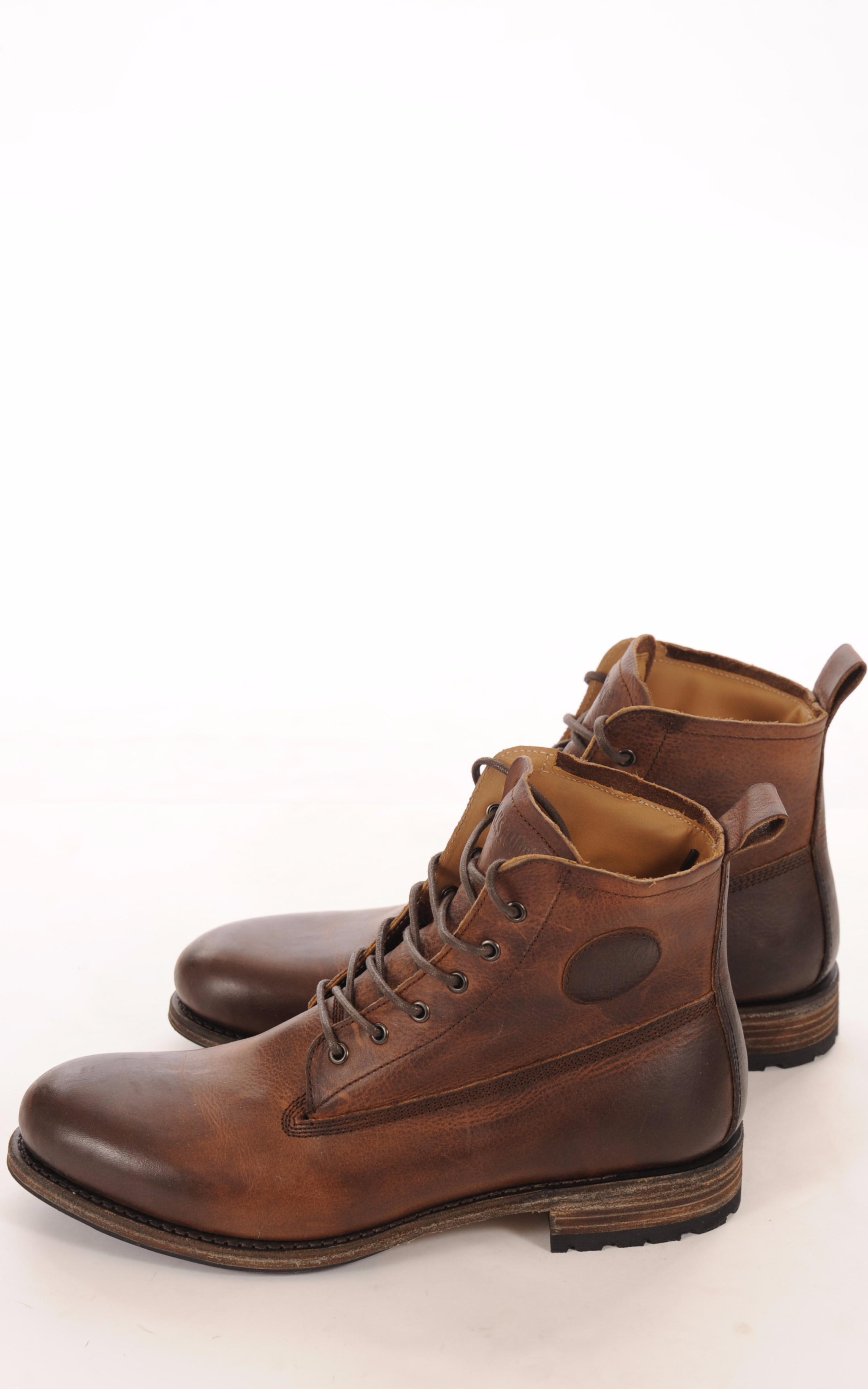 Boots Cuir Marron Vieilli Mouton Blackstone