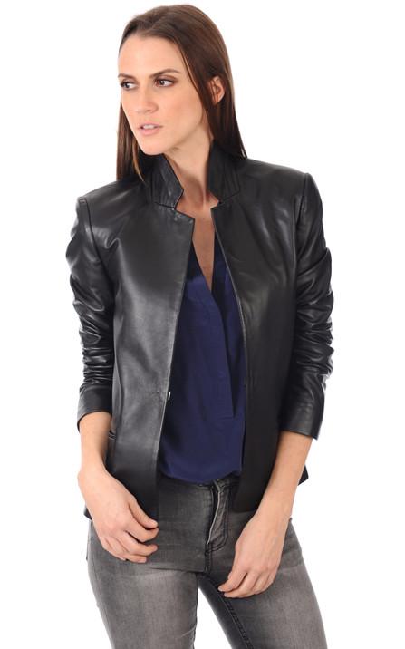 db60f8d92a5d7 Blouson et veste cuir pour femme La Canadienne, Oakwood, Rose Garden ...