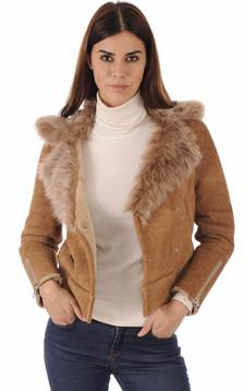 Blouson peau lainée Toscane
