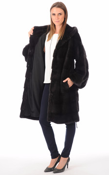 Manteau vison noir