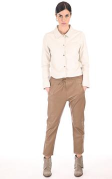 Pantalon jogpant cuir café