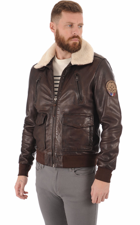 grande collection super mignon dernier style Blouson cuir aviateur pour homme | La Canadienne