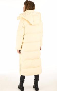 Doudoune longue Aurora beige