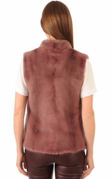 Gilet Vison Rose