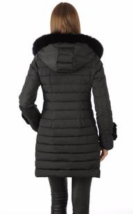 Doudoune Textile et Lapin Femme Noire