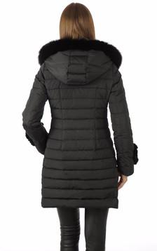 Doudoune Textile et Lapin Noire