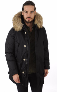 Parka Laminated Cotton Noir1