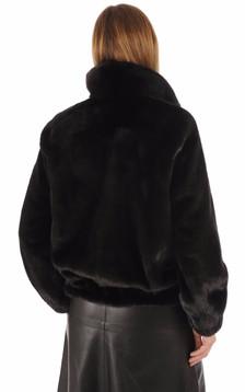 Blouson vison noir