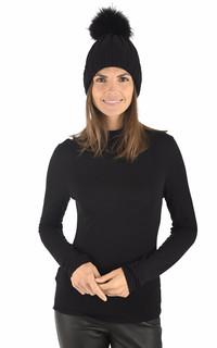 Bonnet en laine noir