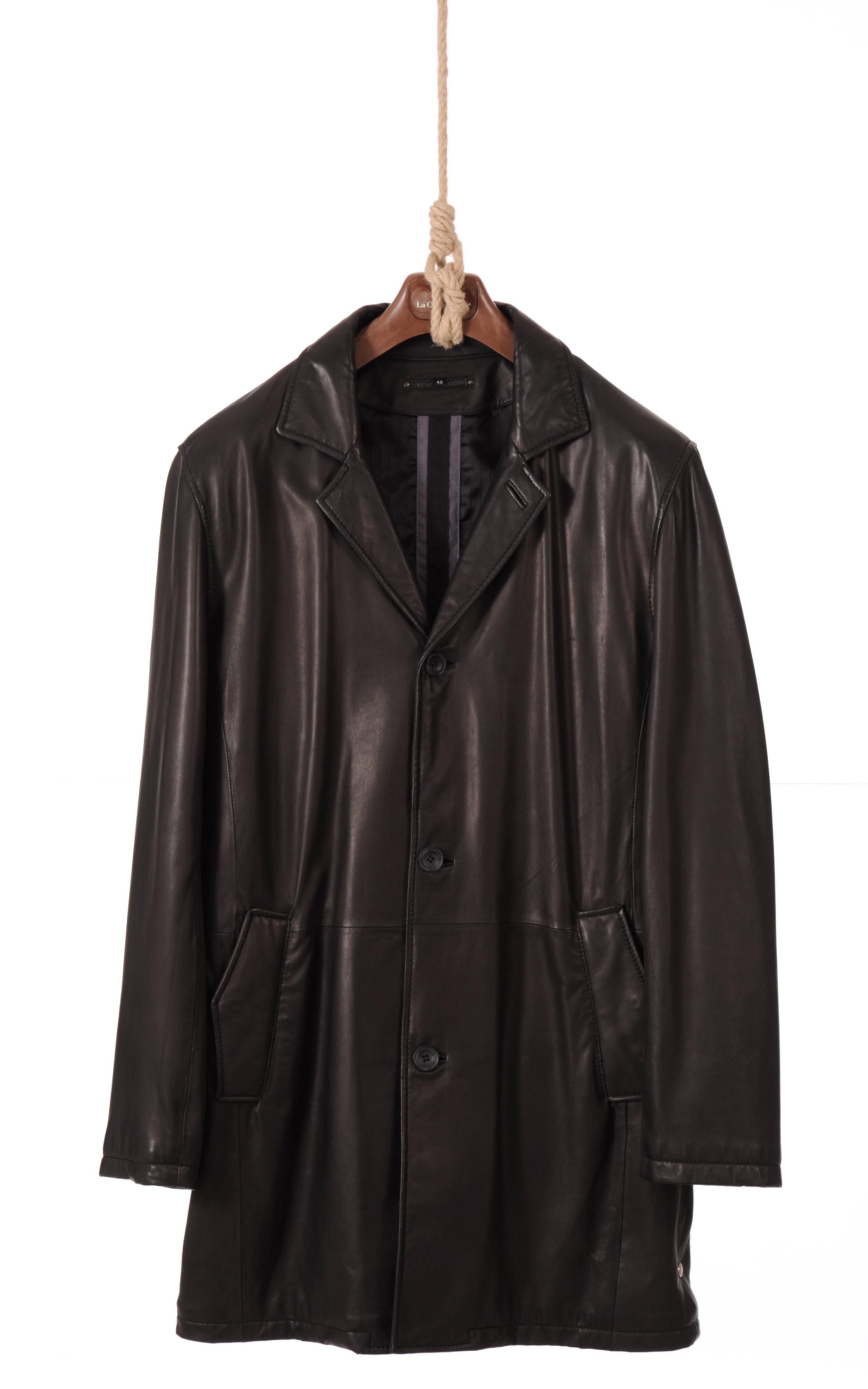 veste longue cuir homme trapper la canadienne veste 3 4 cuir noir. Black Bedroom Furniture Sets. Home Design Ideas