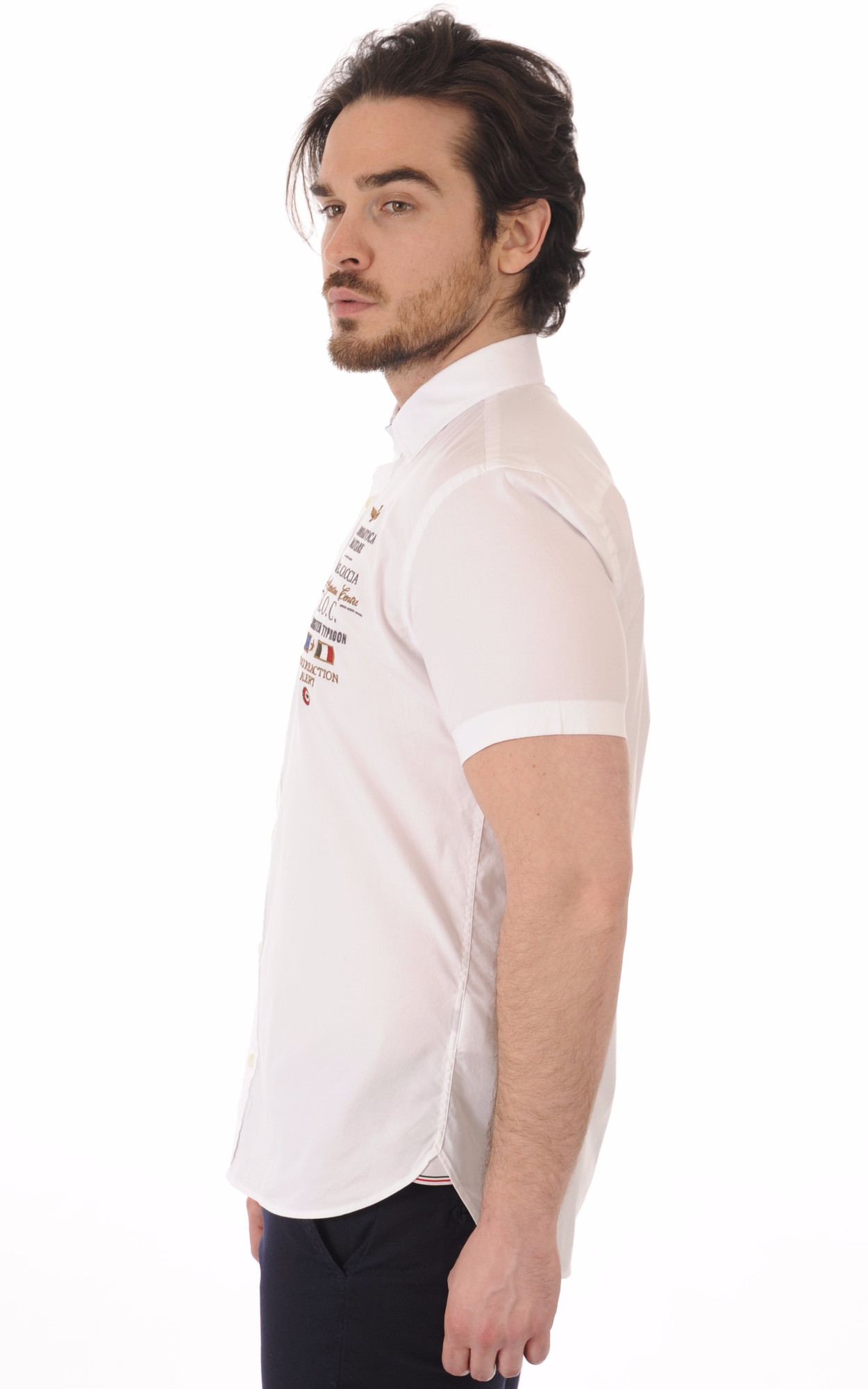 Chemise Blanche A.O.C Manches Courtes1