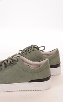 Baskets Velours Vert Homme