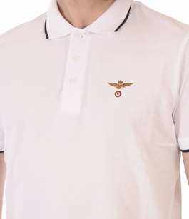 Polo Blanc Logo Aero Aeronautica Militare