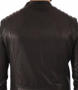 Blouson Cuir Noir Gommé Homme Daytona 73