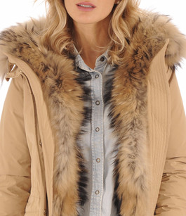 Parka WS Military Camel pour Femme Woolrich