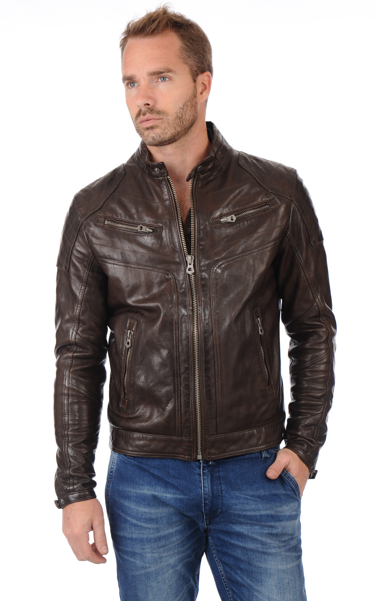 Blouson Ronald Marron1