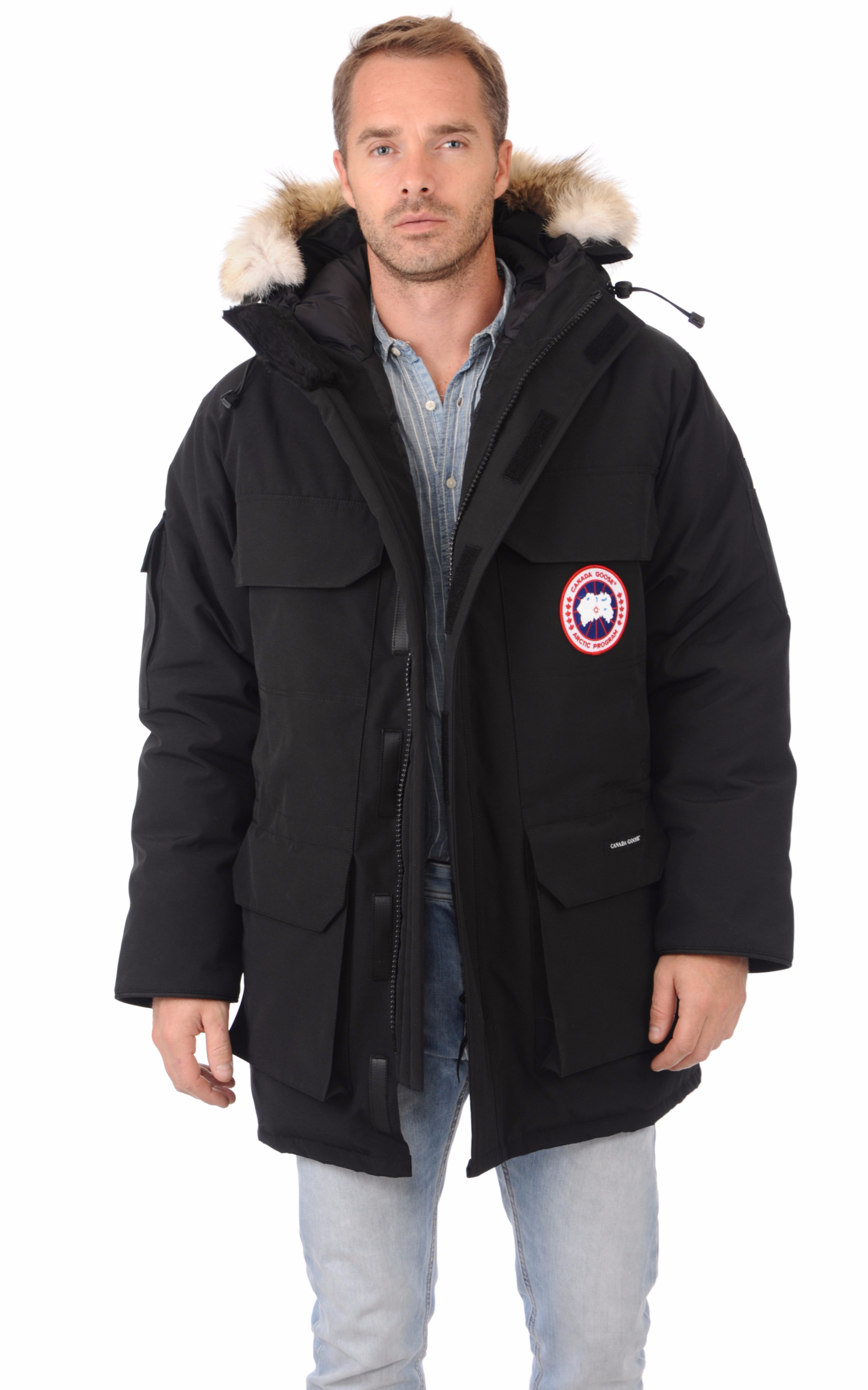 parka expedition noire canada goose la canadienne. Black Bedroom Furniture Sets. Home Design Ideas