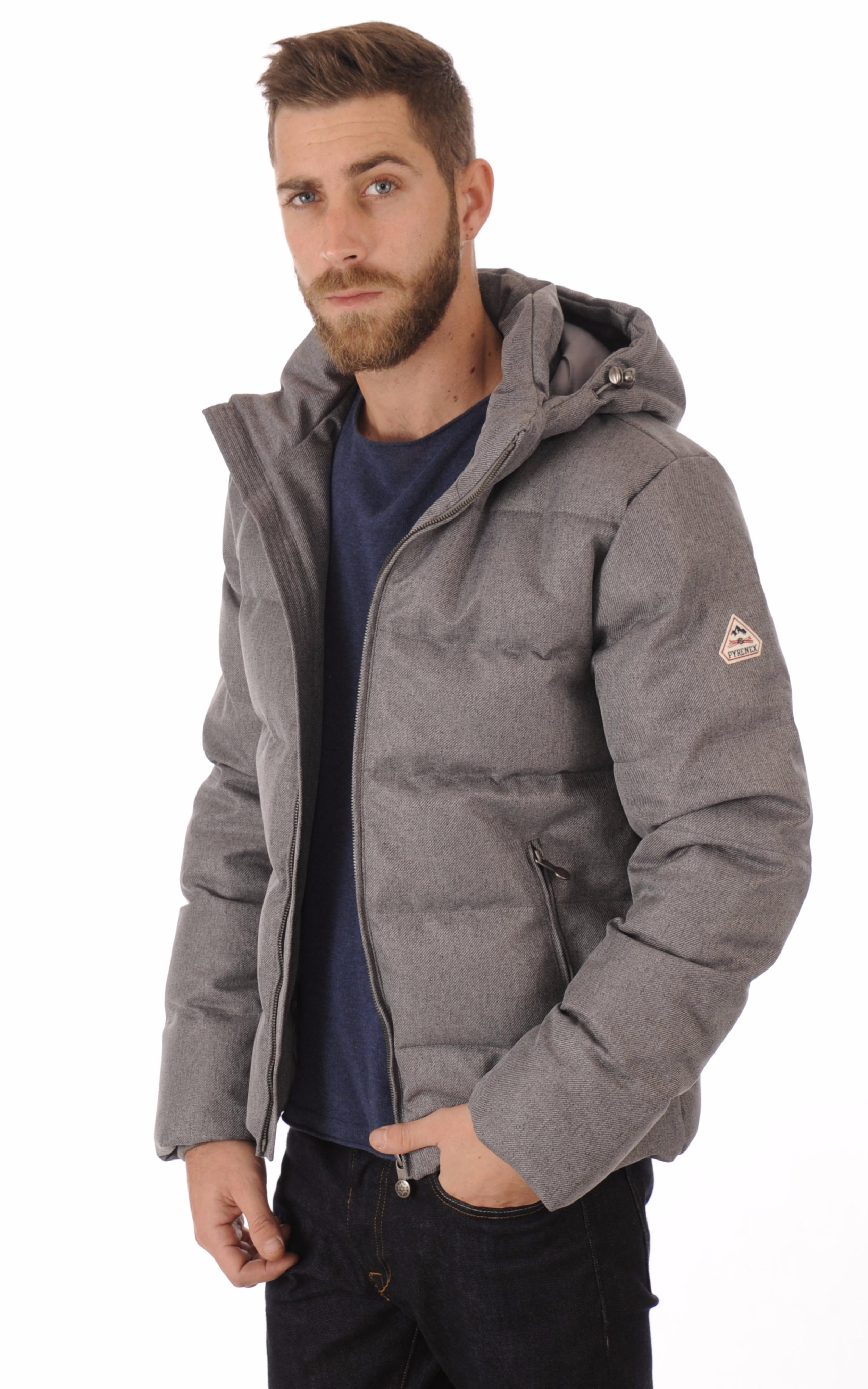 Doudoune Spoutnic Jacket Gris Pyrenex - La Canadienne - Doudoune ... afd23da2934