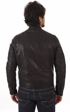 Blouson Motard Noir Homme
