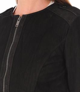 Blouson Cuir Velours Noir Pepe Jeans