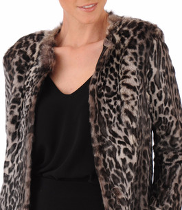 Manteau lapin style léopard La Canadienne
