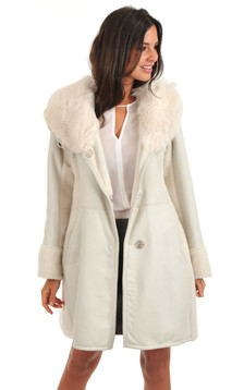 Manteau en toscane huilé