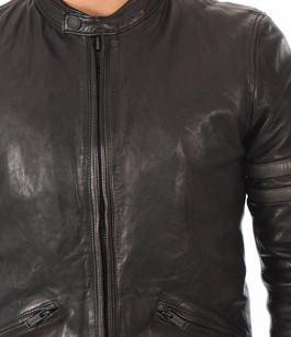 Blouson Cuir Noir Style Motard Chevignon