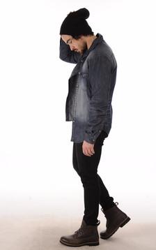 Pantalon Agneau Velours Noir