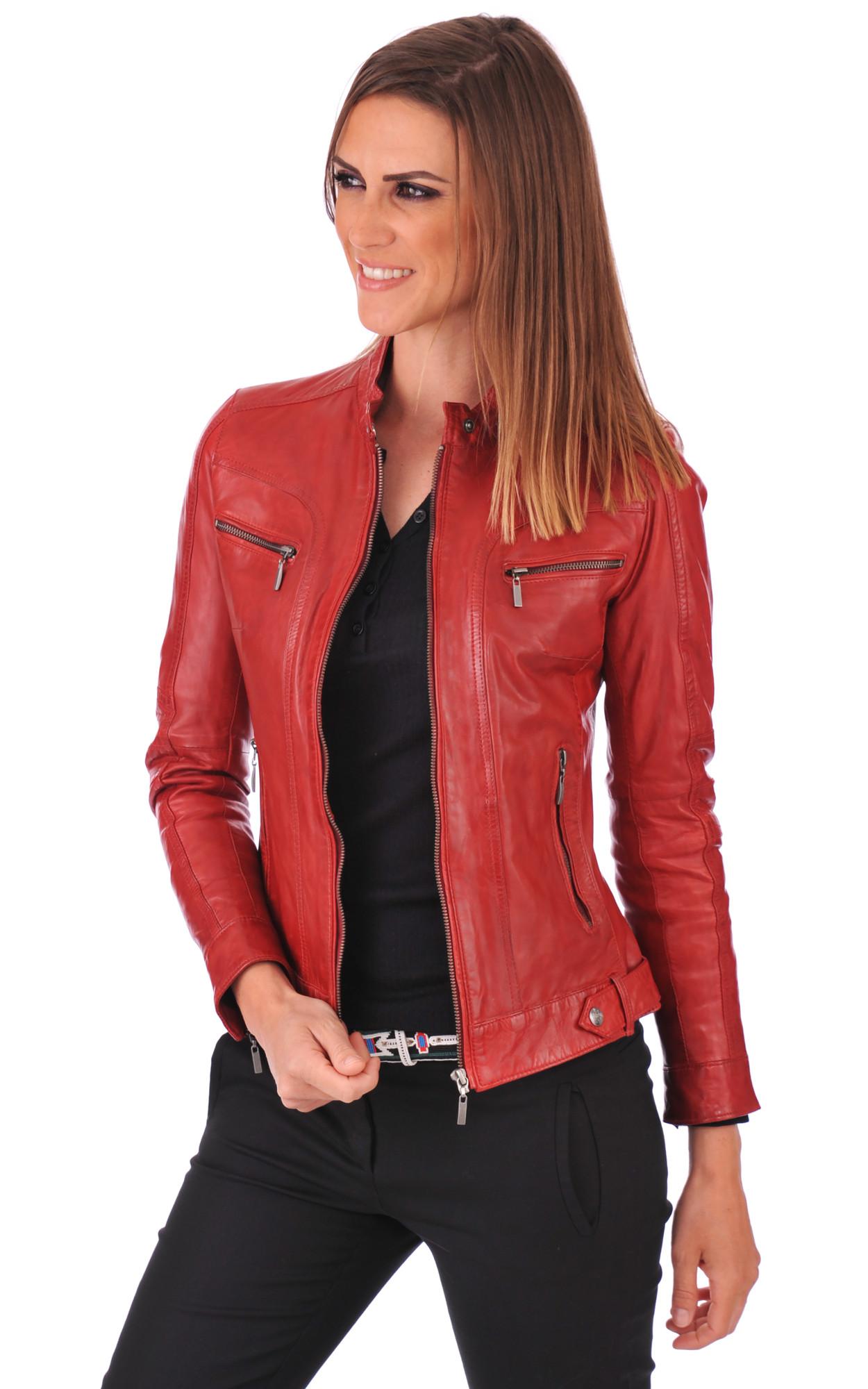 veste simili cuir rouge bordeaux femme vestes l gantes. Black Bedroom Furniture Sets. Home Design Ideas