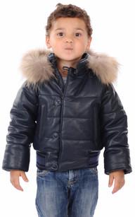 Blouson Cuir Enfant Mixte La Canadienne
