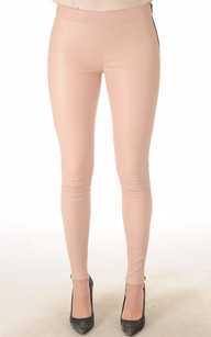 Legging Cuir Stretch Rose Poudré1