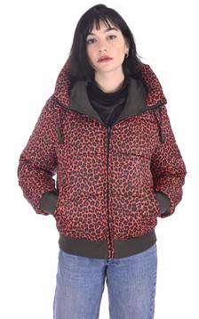 Parka réversible Alexa rouge léopard