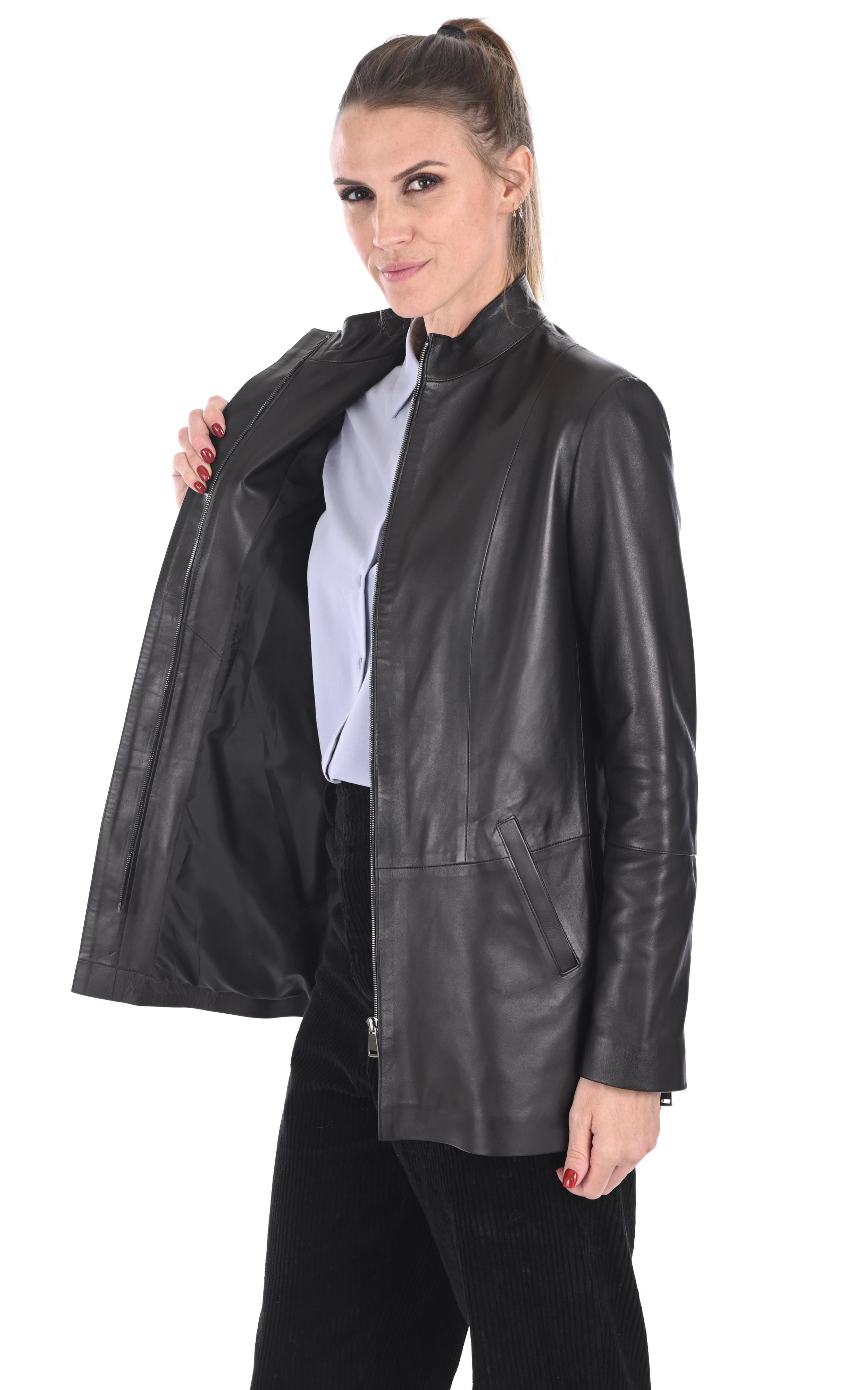 Veste confortable agneau noir La Canadienne