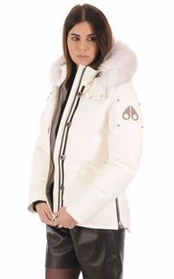 Doudoune MK2229L3Q Fourrure blanche Moose Knuckles