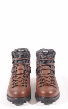 Boots cuir fourées mouton marron
