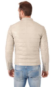 Doudoune Leman Cuir Blanc