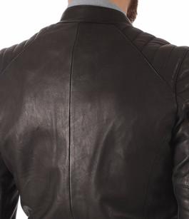 Blouson Cuir Noir Finition Gommée Daytona 73