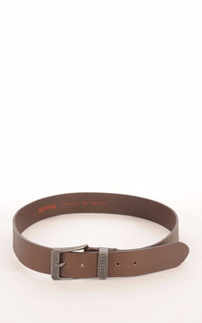 Ceinture Buffle Grainée Marron