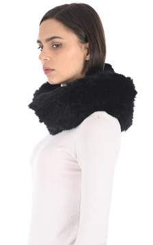 Snood fourrure lapin noir